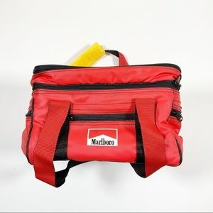 Marlboro Insulated Red Lunch Pale w Shoulder Strap